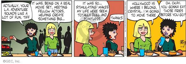 Comic Strip Greg Evans  Luann 2012-01-11 adventure movie