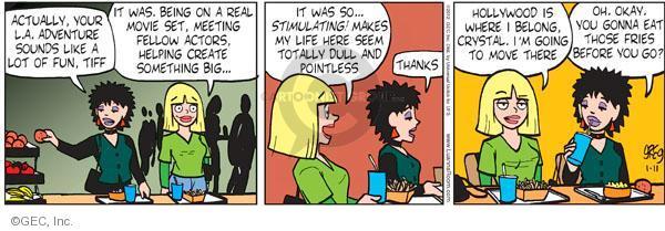 Comic Strip Greg Evans  Luann 2012-01-11 pointless
