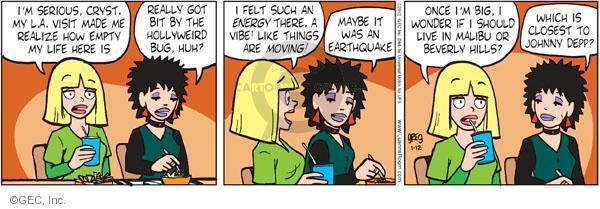 Comic Strip Greg Evans  Luann 2012-01-12 energy