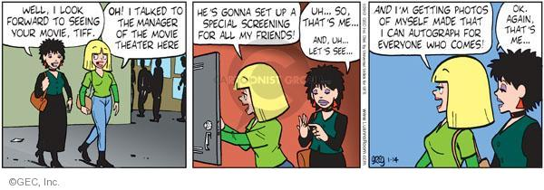 Comic Strip Greg Evans  Luann 2012-01-14 actress
