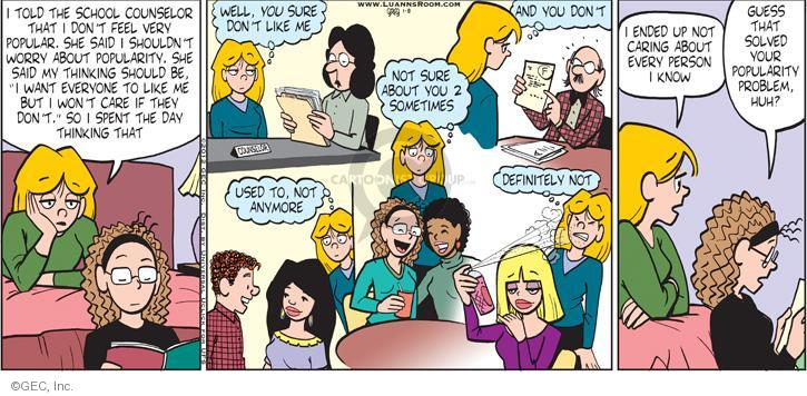 Comic Strip Greg Evans  Luann 2012-01-08 counselor