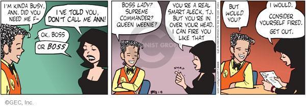 Comic Strip Greg Evans  Luann 2012-01-18 aleck