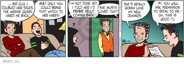 Comic Strip Greg Evans  Luann 2012-01-21 demand