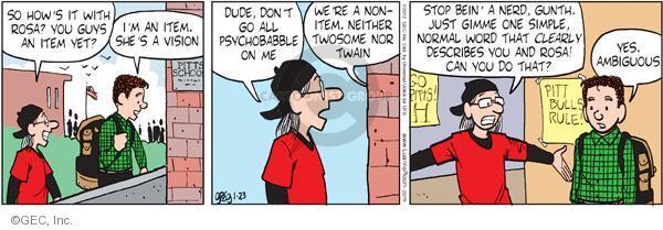 Comic Strip Greg Evans  Luann 2012-01-23 normal