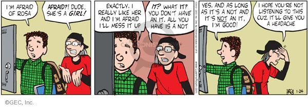 Comic Strip Greg Evans  Luann 2012-01-24 teen