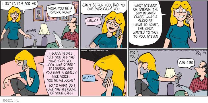 Cartoonist Greg Evans  Luann 2012-01-22 pleasure