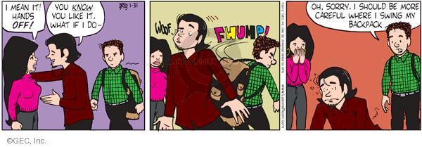 Comic Strip Greg Evans  Luann 2012-01-31 careful