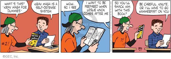 Comic Strip Greg Evans  Luann 2012-02-07 defense