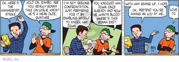Comic Strip Greg Evans  Luann 2012-02-08 defense