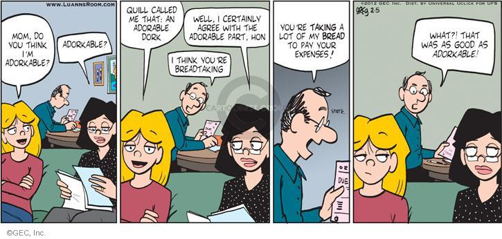 Comic Strip Greg Evans  Luann 2012-02-05 expense