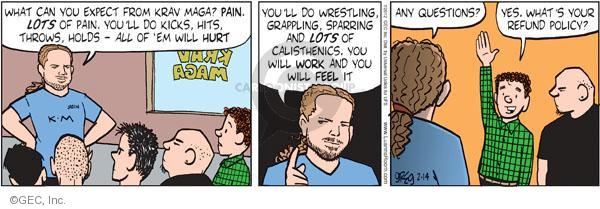 Comic Strip Greg Evans  Luann 2012-02-14 fitness