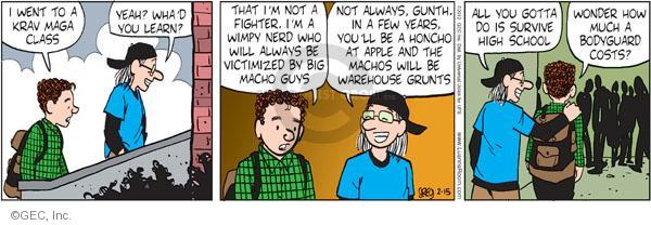 Comic Strip Greg Evans  Luann 2012-02-15 defense