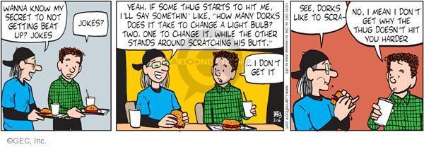 Comic Strip Greg Evans  Luann 2012-02-16 defense