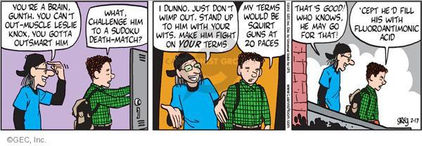 Comic Strip Greg Evans  Luann 2012-02-17 defense