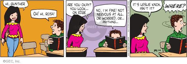 Comic Strip Greg Evans  Luann 2012-02-18 teen