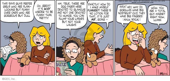 Comic Strip Greg Evans  Luann 2012-02-12 pretty girl