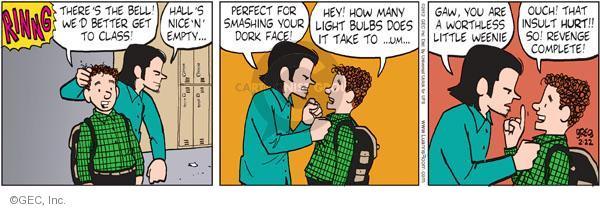 Comic Strip Greg Evans  Luann 2012-02-22 hall