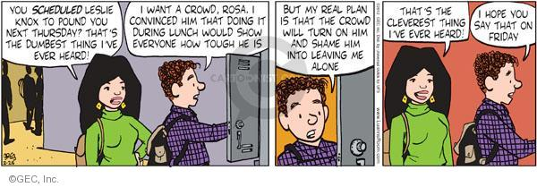 Cartoonist Greg Evans  Luann 2012-02-25 convince