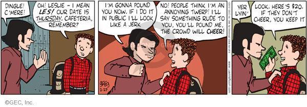 Comic Strip Greg Evans  Luann 2012-02-27 school cafeteria