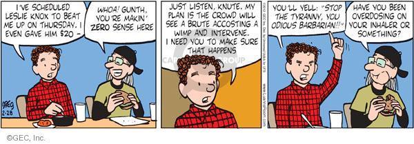 Comic Strip Greg Evans  Luann 2012-02-28 scheme