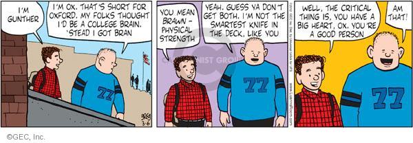 Comic Strip Greg Evans  Luann 2012-03-06 kindness