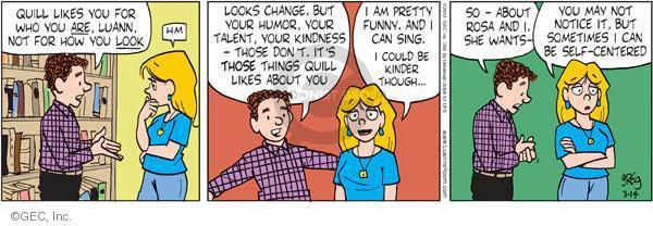 Comic Strip Greg Evans  Luann 2012-03-14 kindness
