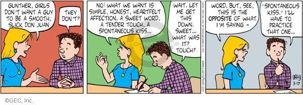 Comic Strip Greg Evans  Luann 2012-03-17 affection