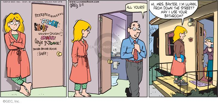 Comic Strip Greg Evans  Luann 2012-03-11 sniff