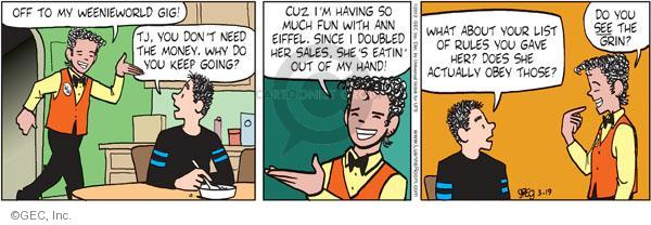 Comic Strip Greg Evans  Luann 2012-03-19 hand