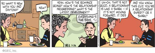 Comic Strip Greg Evans  Luann 2012-03-26 development