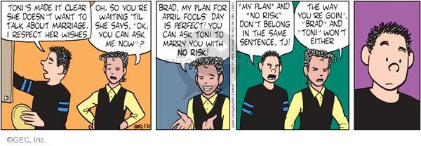 Comic Strip Greg Evans  Luann 2012-03-30 Brad