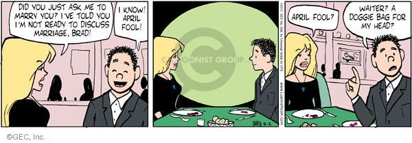 Comic Strip Greg Evans  Luann 2012-04-02 Brad
