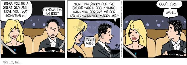 Comic Strip Greg Evans  Luann 2012-04-04 Brad