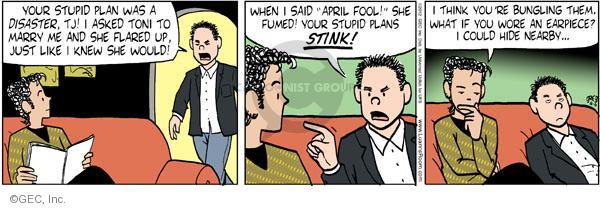 Cartoonist Greg Evans  Luann 2012-04-06 April