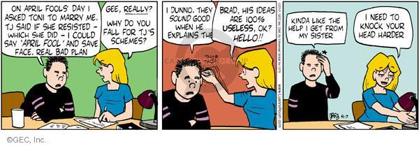 Comic Strip Greg Evans  Luann 2012-04-07 Brad