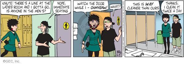 Comic Strip Greg Evans  Luann 2012-04-09 in door