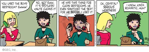 Comic Strip Greg Evans  Luann 2012-04-14 romance