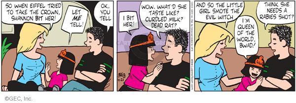 Cartoonist Greg Evans  Luann 2012-04-21 milk