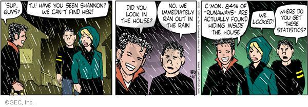 Comic Strip Greg Evans  Luann 2012-04-28 'sup