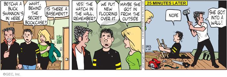 Comic Strip Greg Evans  Luann 2012-04-30 hall
