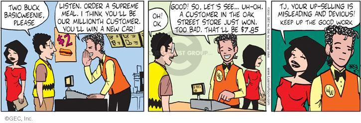 Comic Strip Greg Evans  Luann 2012-05-07 fast food meal
