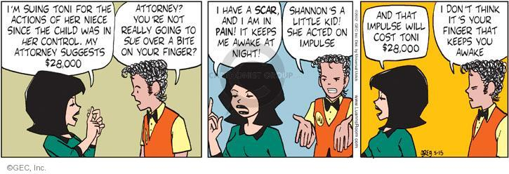 Comic Strip Greg Evans  Luann 2012-05-15 $28
