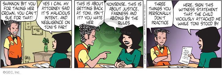 Comic Strip Greg Evans  Luann 2012-05-16 justice