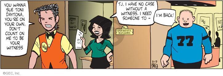 Comic Strip Greg Evans  Luann 2012-05-17 case