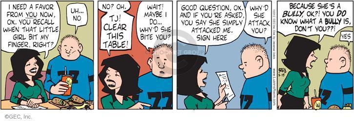 Comic Strip Greg Evans  Luann 2012-05-19 finger