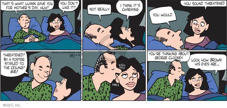 Comic Strip Greg Evans  Luann 2012-05-13 threaten