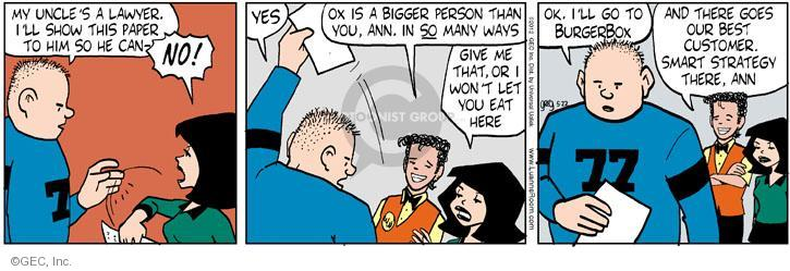 Cartoonist Greg Evans  Luann 2012-05-22 customer