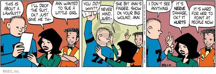Comic Strip Greg Evans  Luann 2012-05-24 finger