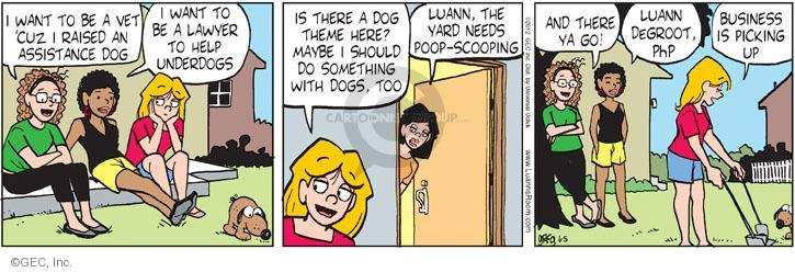 Cartoonist Greg Evans  Luann 2012-06-05 assistance