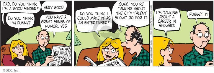 Cartoonist Greg Evans  Luann 2012-06-07 great job